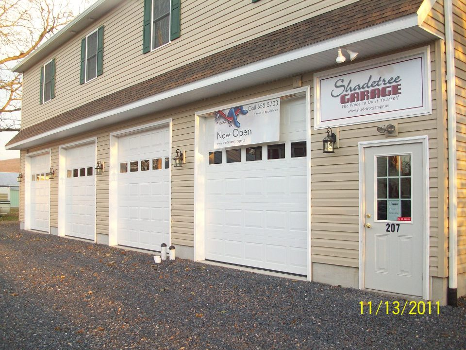 Life at the garage shadetree garage garage exterior three bays for diy solutioingenieria Image collections