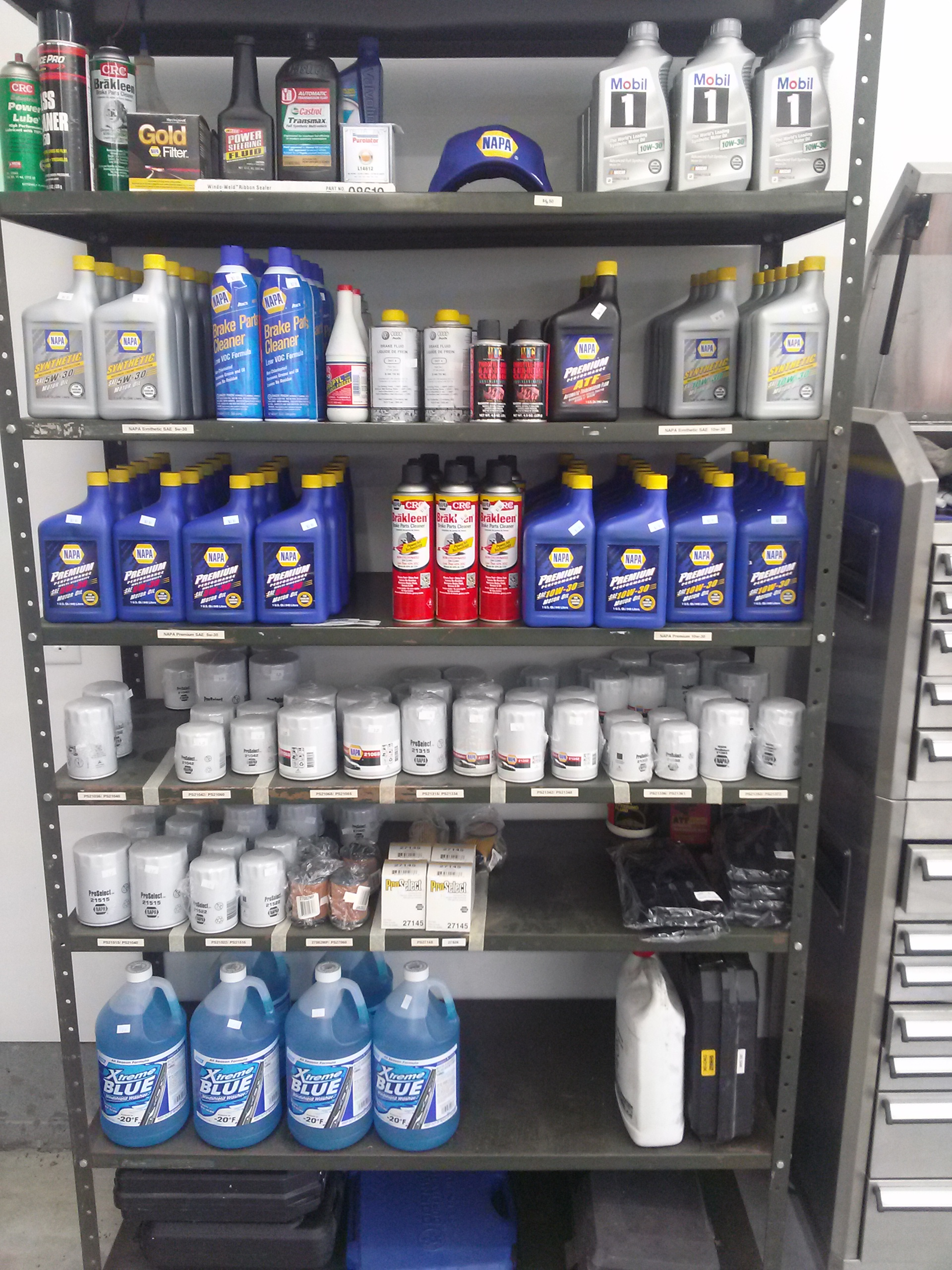 Life at the garage shadetree garage napa product shelf solutioingenieria